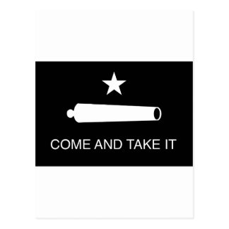 Come and Take It Flag (Reversed) Postcard