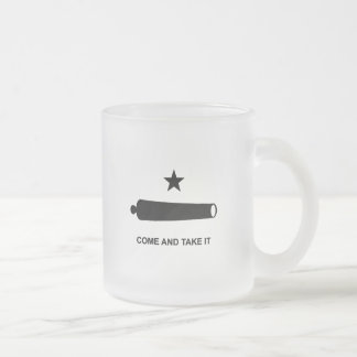 Come And Take It Frosted Glass Coffee Mug