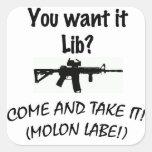 Come and take it LIB! Stickers