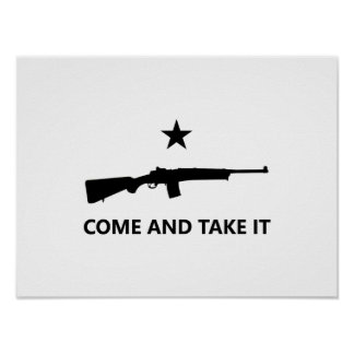 COME AND TAKE IT - Mini-14 Ranch Rifle Poster