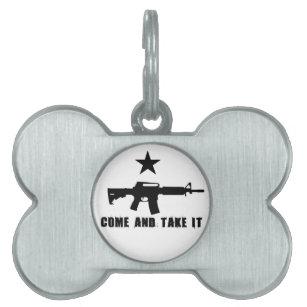 gun pet id tags zazzle