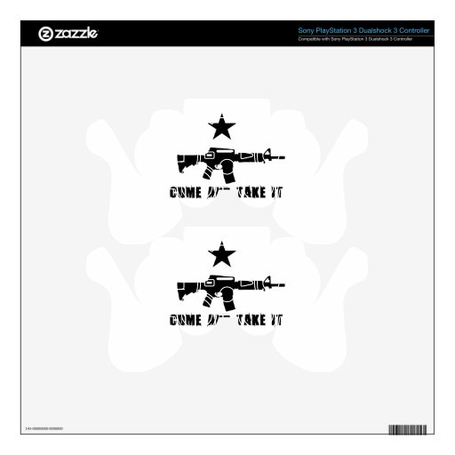 Come and Take It PS3 Controller Decals