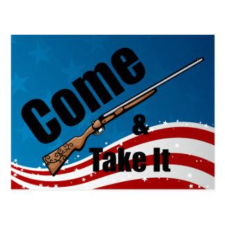 Come and Take It Rifle Postcard