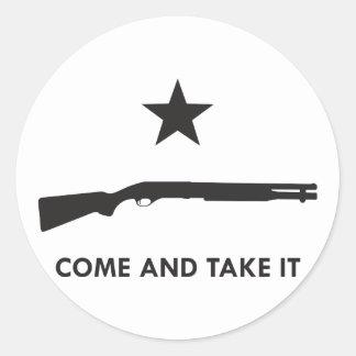 Come and take it! (Shotgun) Classic Round Sticker