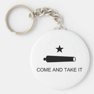 Come And Take It Texas Flag Battle of Gonzales Basic Round Button Keychain