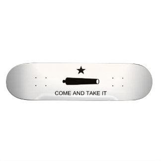 Come And Take It Texas Flag Battle of Gonzales Skateboard Deck
