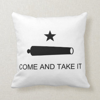 Come And Take It Texas Flag Battle of Gonzales Throw Pillow