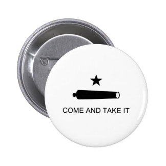 Come And Take It Texas Flag Button