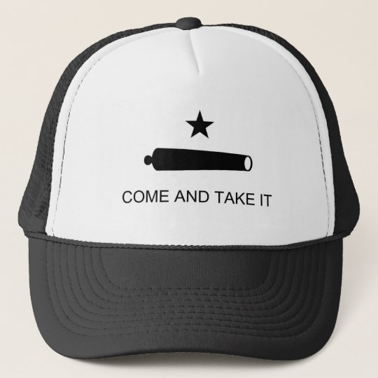 Come And Take It Texas Flag Trucker Hat  02ddf86615b