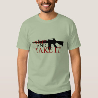 Come and Take It With Musket back T-shirt