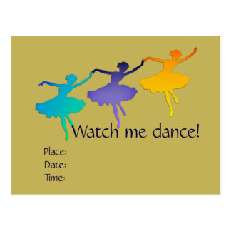 Come and Watch Me Dance (Ballet) Postcard