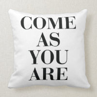 Come As You Are Nursery Pillow, Scandinavian Kids Throw Pillow