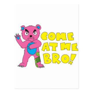 Come At Me Bear Postcard