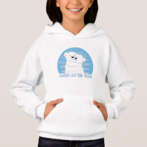 Come At Me Bro , Cute Cartoon Polar Bears Hug Hoodie