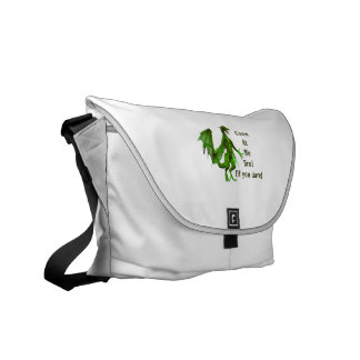 come at me bro dragon green courier bags
