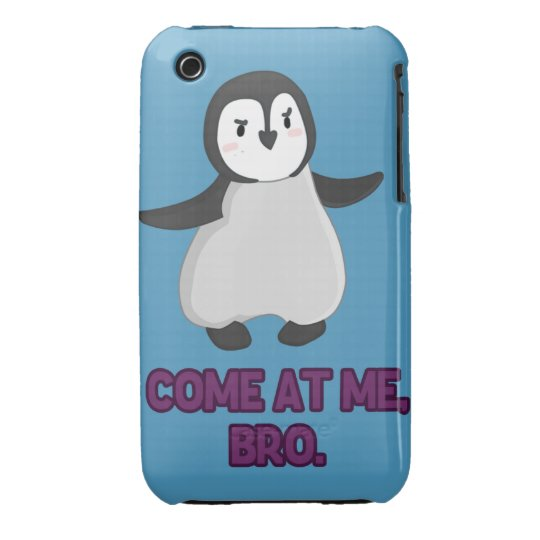 Come At Me, Bro Penguin iPhone 3 Cover