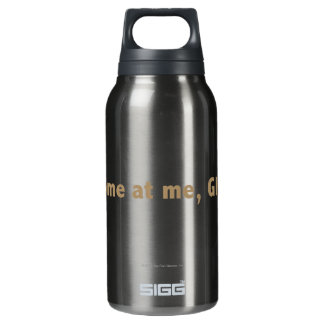 Come at me, ghosts! Gold Insulated Water Bottle