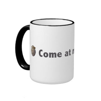 Come at me, ghosts! Grey Coffee Mugs