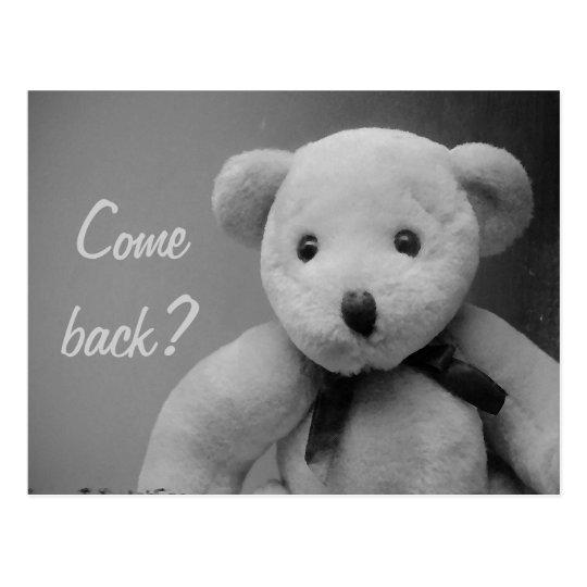 Come Back Teddy Postcard