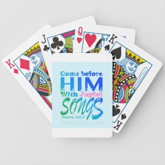 Come Before Him with Joyful Songs Psalms 100 Playing Cards