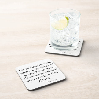 Come Boldly to God Cork Coaster