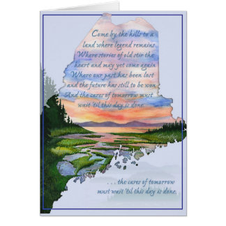 Come By The Hills Maine Coast Greeting Card