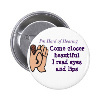 Come Closer I read eyes and lips badge Pinback Button