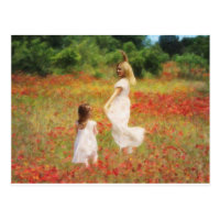 Come Dance Daughter -Mother & Child Painting Postcard