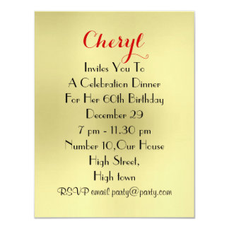 Come Dine With Me Dinner Party Place Setting Card