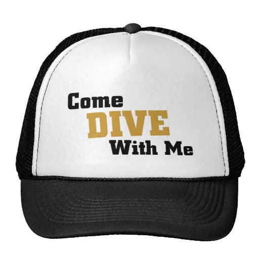 Come dive with me hats