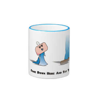 """""""Come Down Here"""" Cushion - A Angry Baby Design Ringer Mug"""