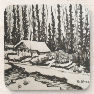 Come Flow Gently Home Beverage Coaster