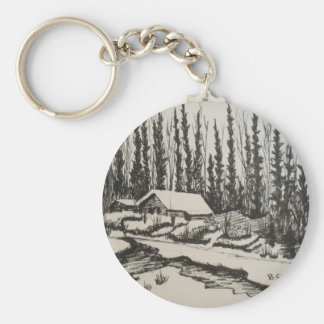 Come Flow Gently Home Keychain