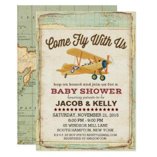airplane invitations & announcements | zazzle, Baby shower invitations