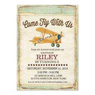 Come Fly Birthday Airplane Travel Invitation