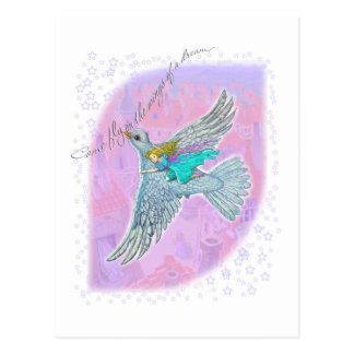 Come fly on the wings of the dream postcard