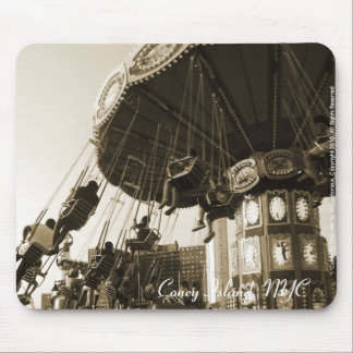 """Come Fly With Me"" Coney Island, NYC Mousepad"