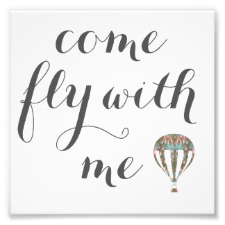 Come Fly With Me | Hot Air Balloon Art Photo Print