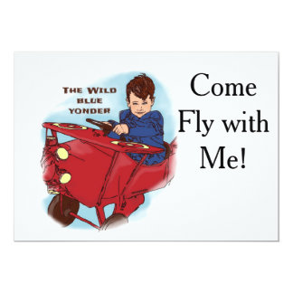 Come Fly with Me! 5x7 Paper Invitation Card