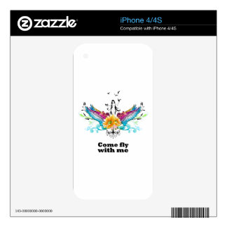 Come fly with me iPhone 4 decals