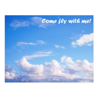 Come fly with me! postcard