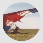 'Come Fly With Me!' Sticker