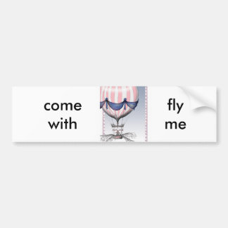 come fly with me, tony fernandes bumper sticker