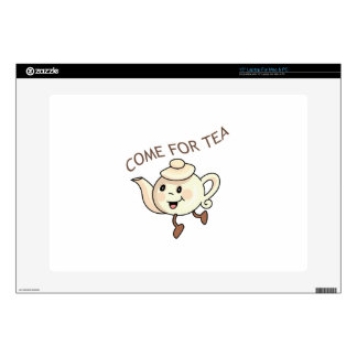 """COME FOR TEA DECAL FOR 15"""" LAPTOP"""