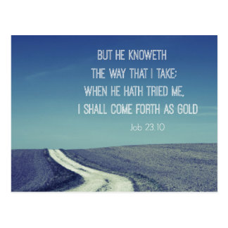 Come forth as Gold Bible Verse Quote Postcard