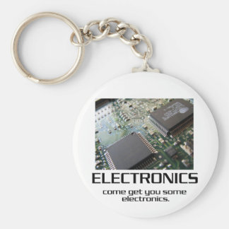 Come Get You Some Electronics Basic Round Button Keychain