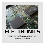Come Get You Some Electronics Poster