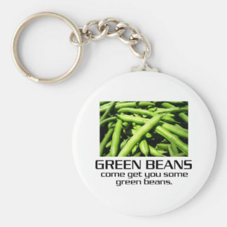 Come Get You Some Green Beans. Basic Round Button Keychain