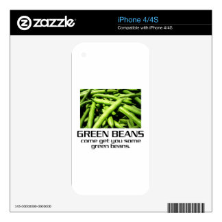 Come Get You Some Green Beans. Skin For iPhone 4S