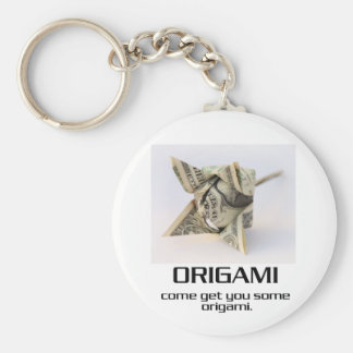 Come Get You Some Origami Basic Round Button Keychain